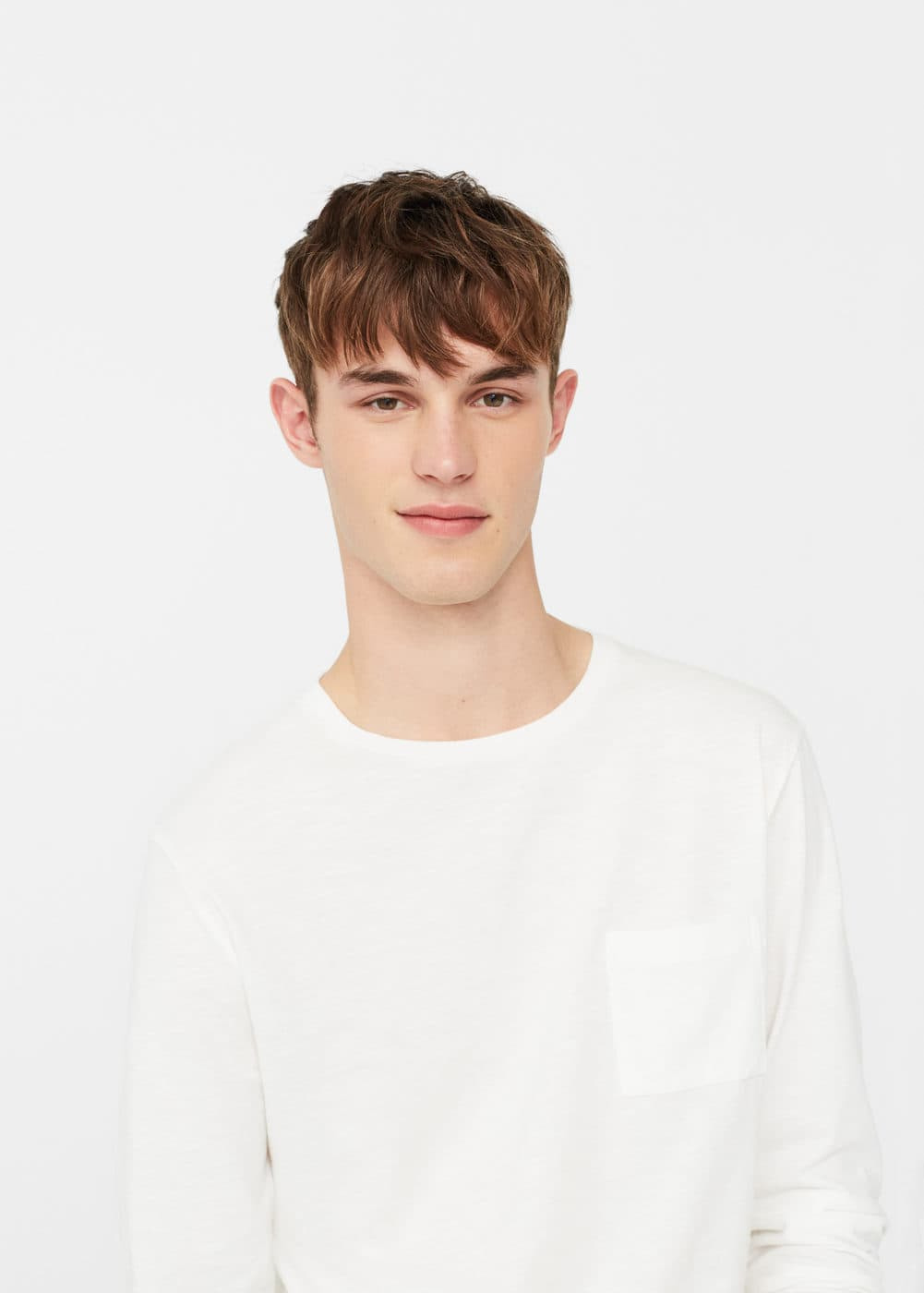Slub-cotton t-shirt | MANGO MAN