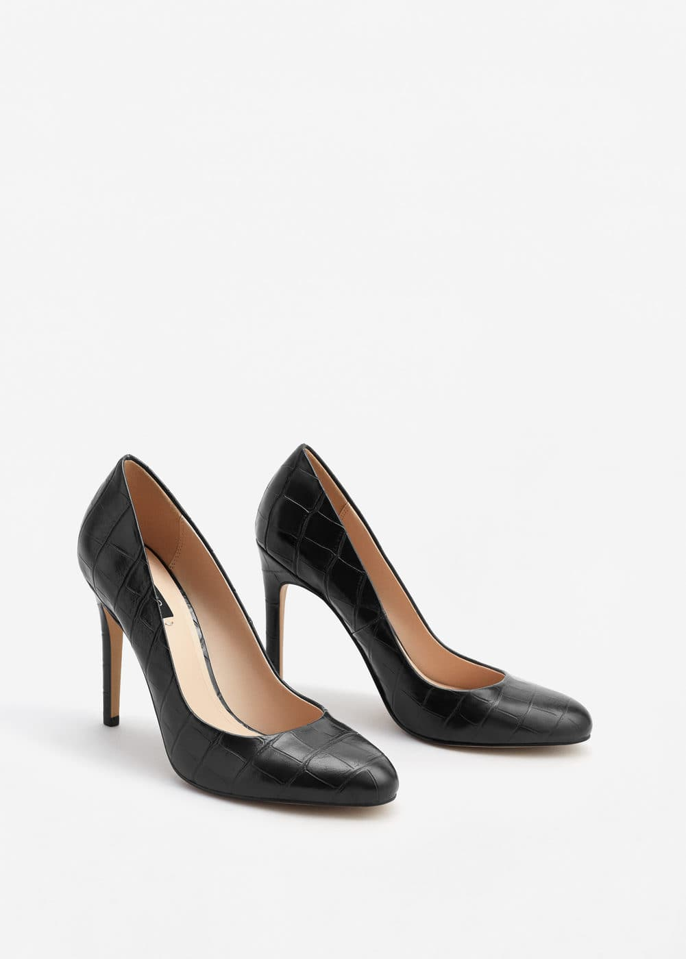 Embossed high heel shoes | MANGO