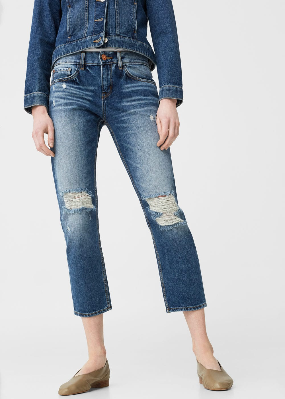 Jeans relaxed crop cigar | MANGO