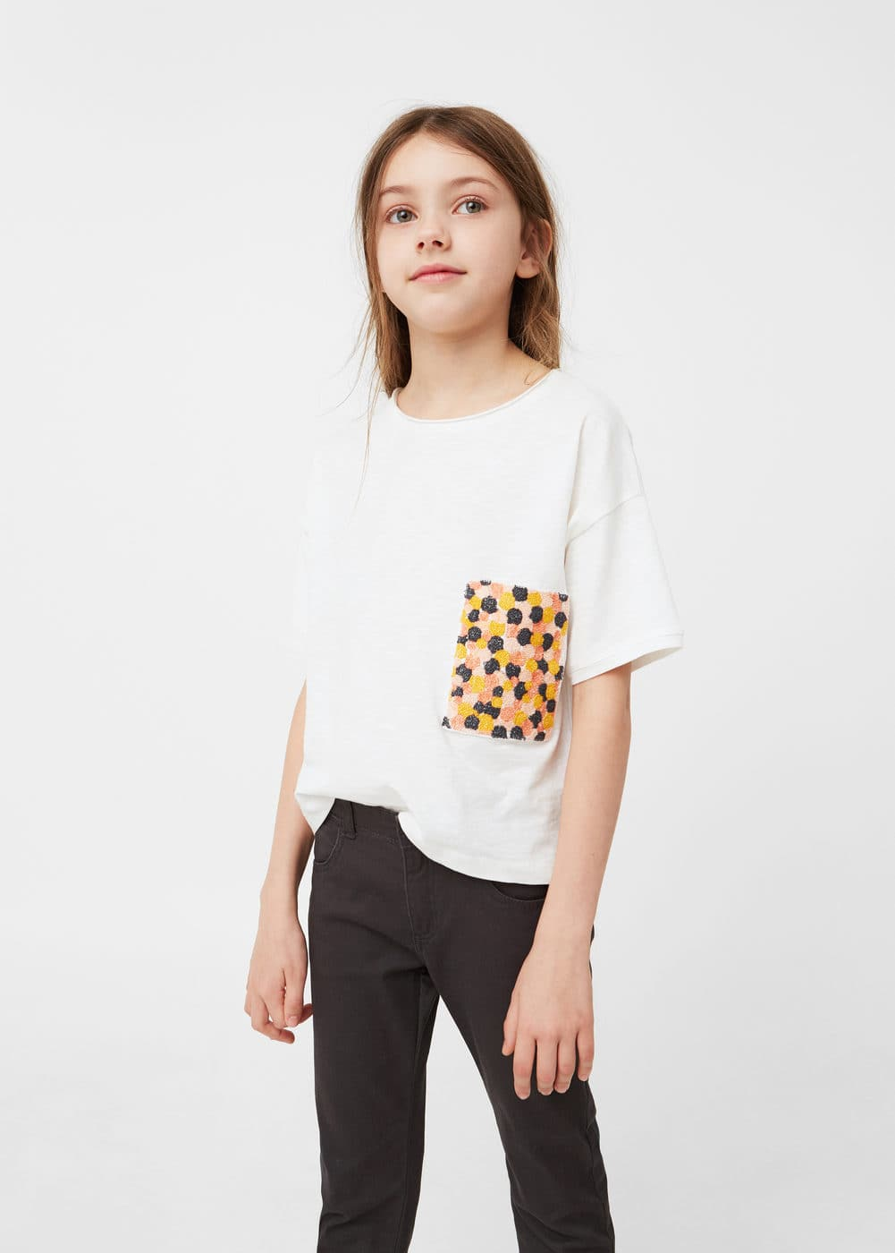 Skinny cotton trousers | MANGO KIDS
