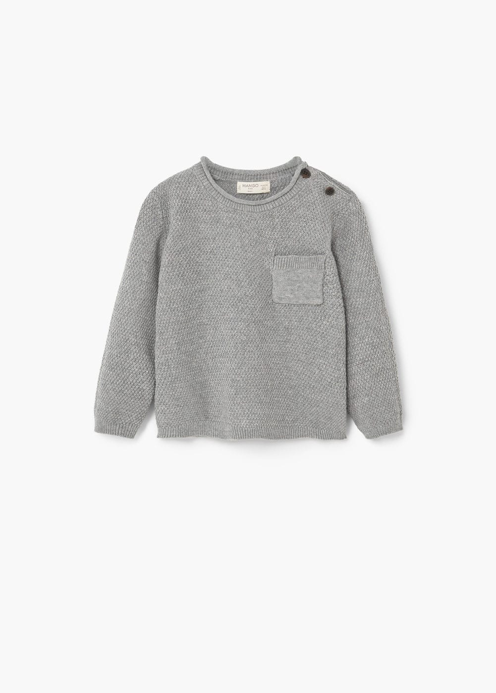 Fine-knit cotton sweater | MANGO KIDS