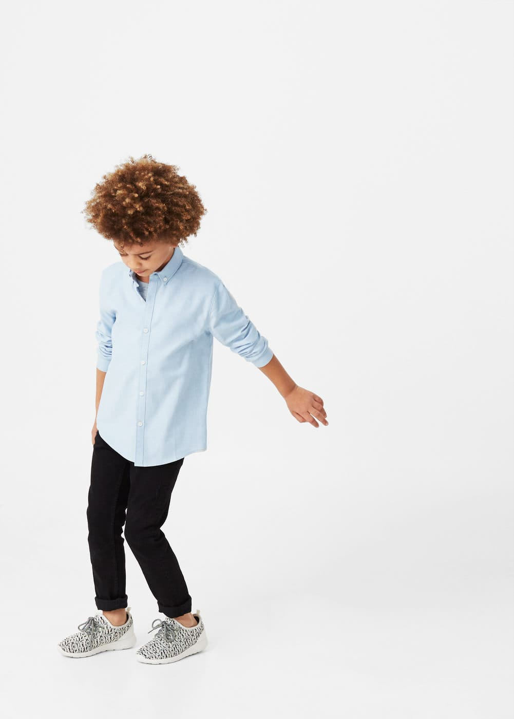 Essential cotton-blend shirt | MANGO KIDS