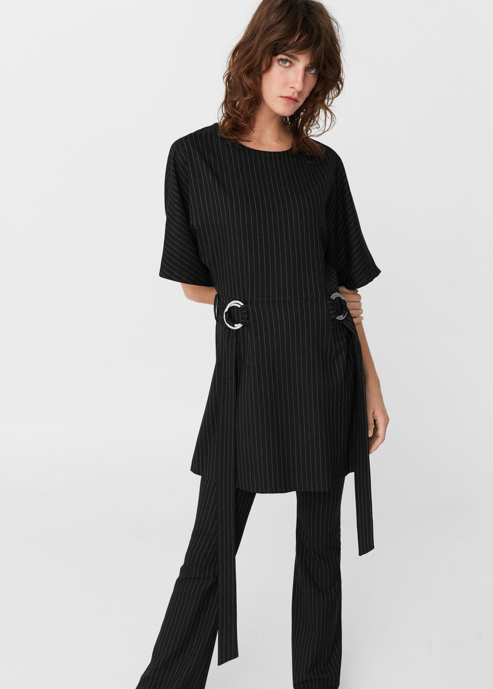 Decoratives buckles dress | MANGO