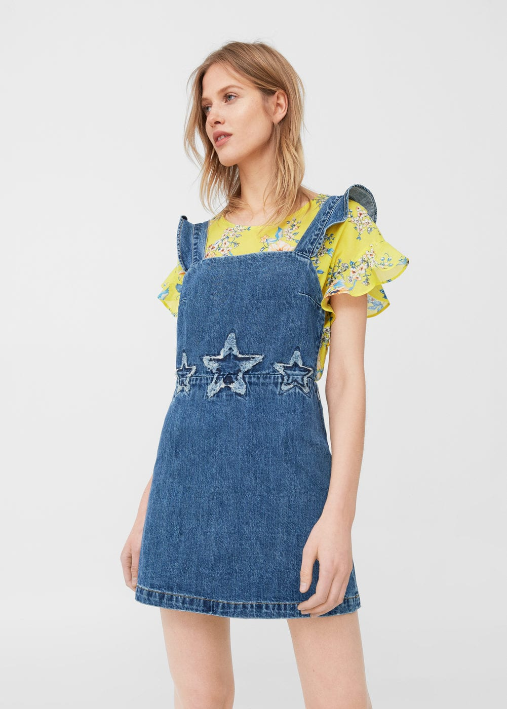 Star denim dungarees | MANGO