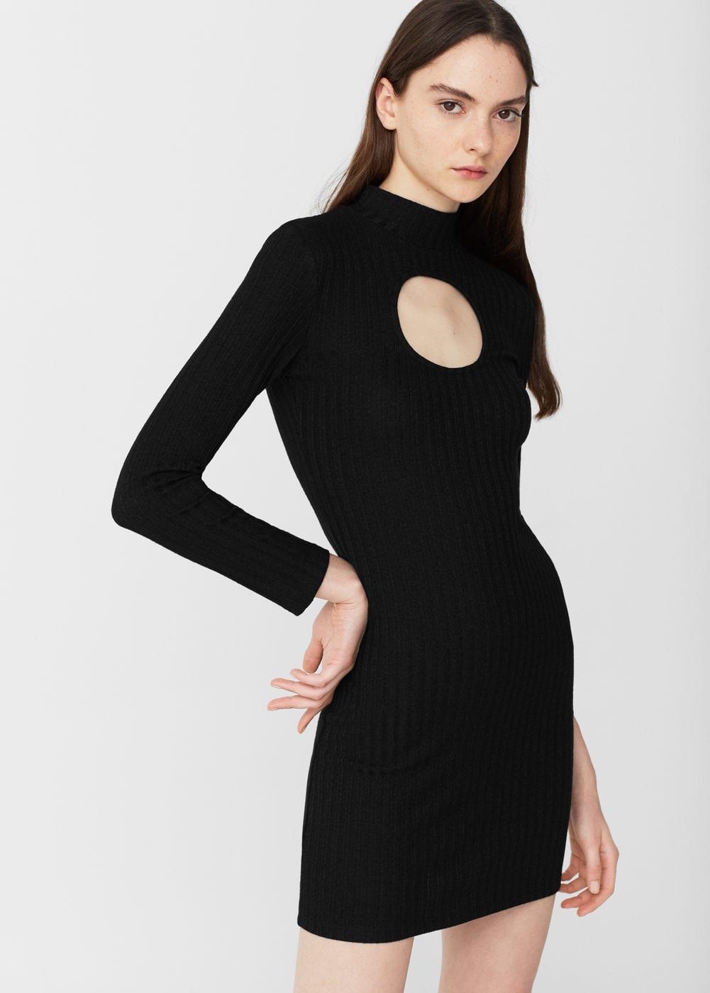 Cut-out bodycon dress | MANGO