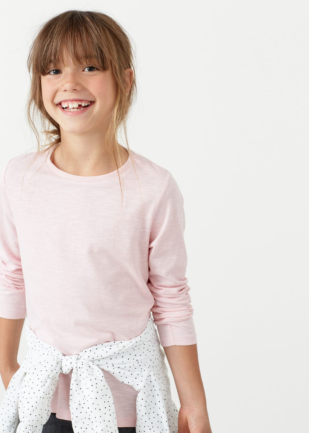 Meliertes basic-t-shirt | MANGO KIDS