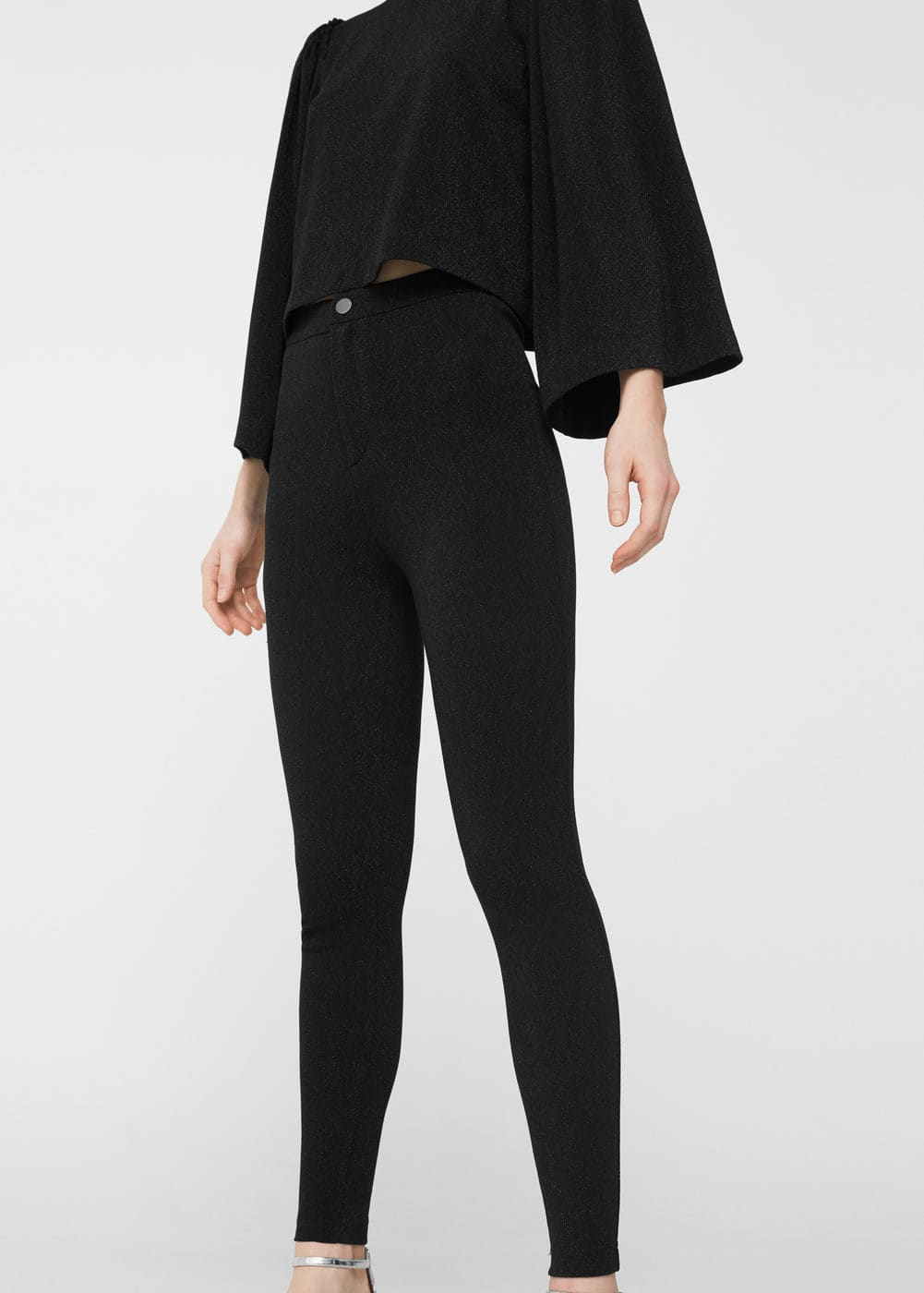 Leggings mit metallic-garn | MANGO