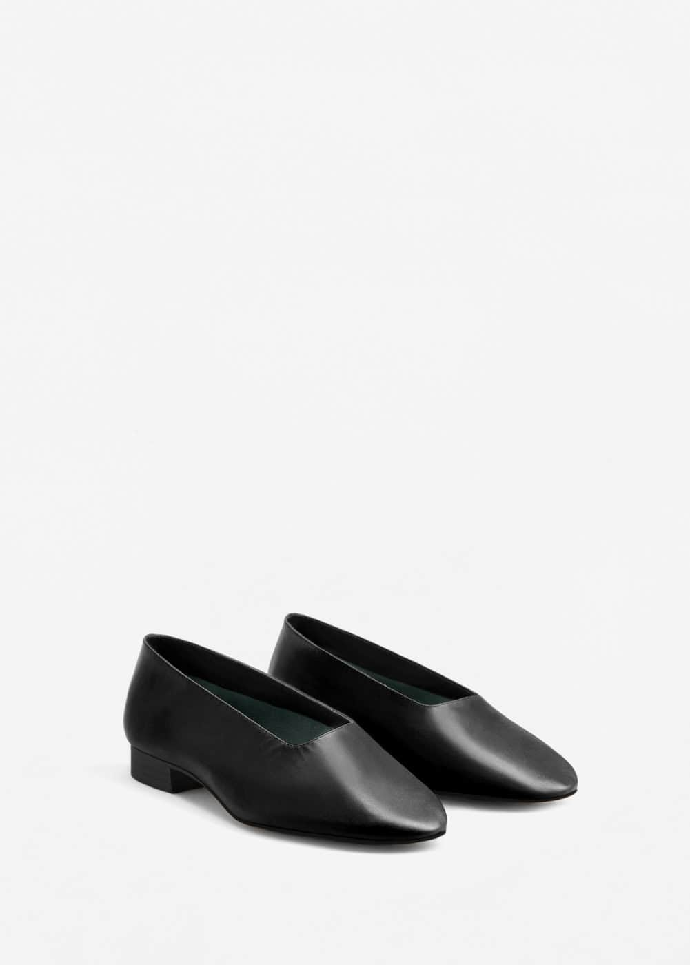 Leather ballerina | MANGO