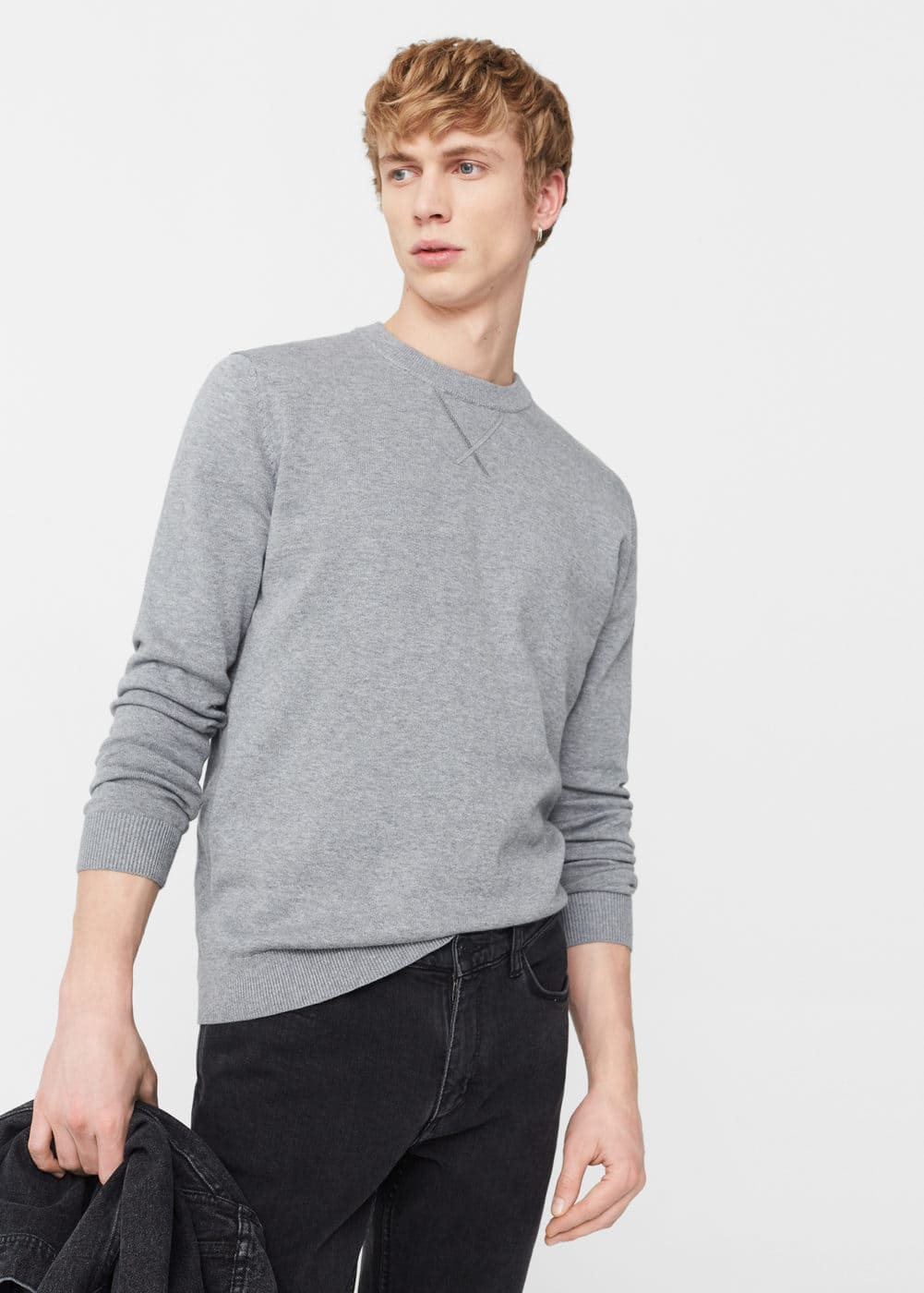 Round neck sweater | MANGO