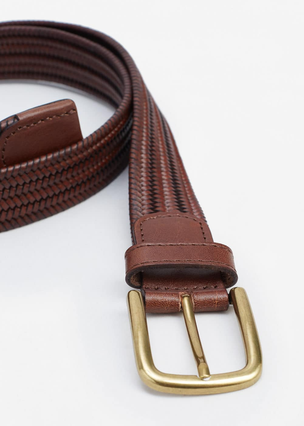 Braided leather belt | MNG