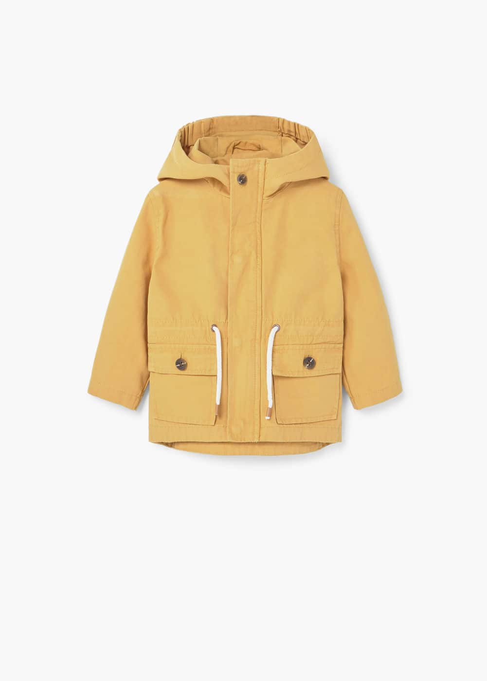 Hooded cotton coat | MANGO