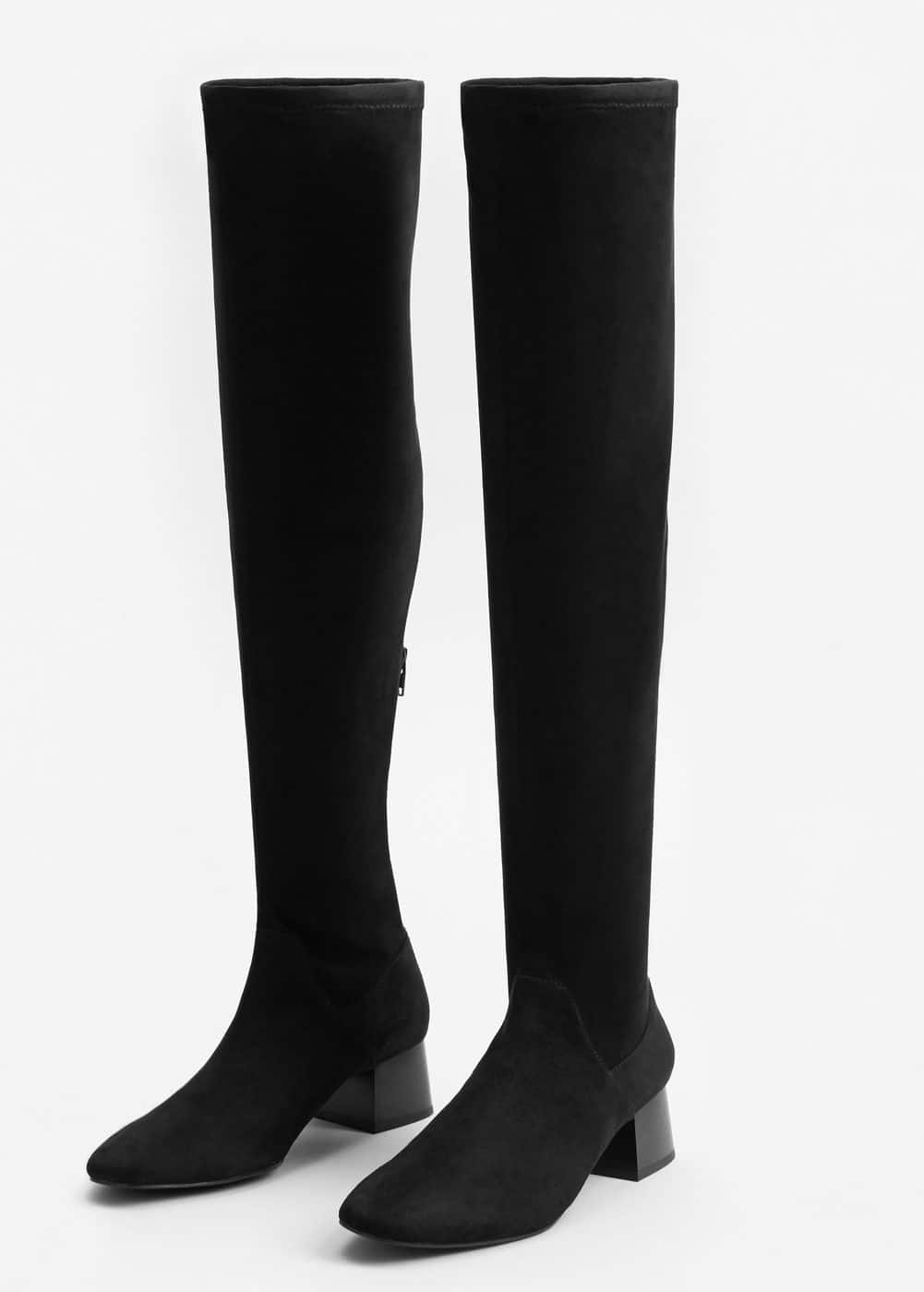 Over the knee heel boots | MANGO