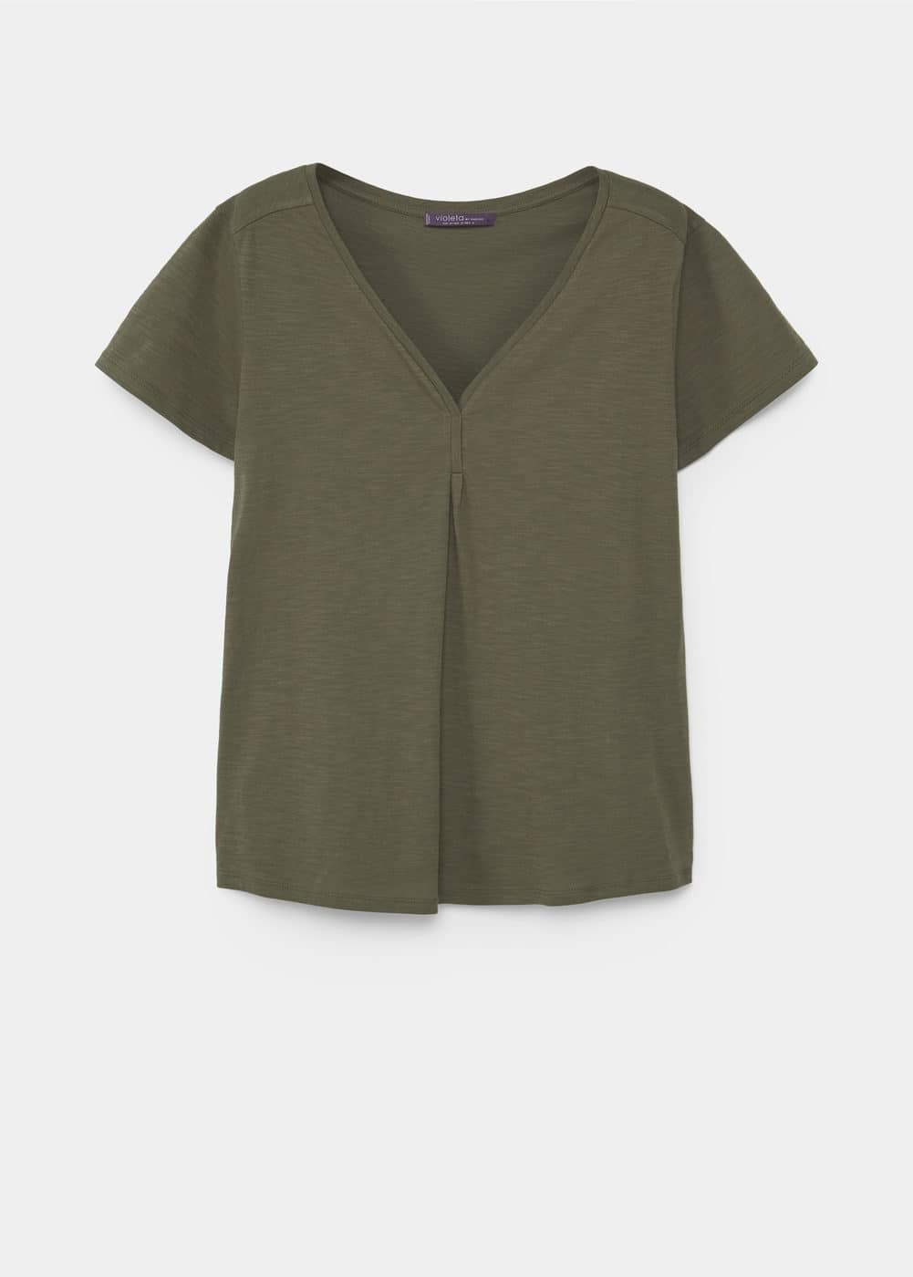 Slub-cotton t-shirt | VIOLETA BY MANGO