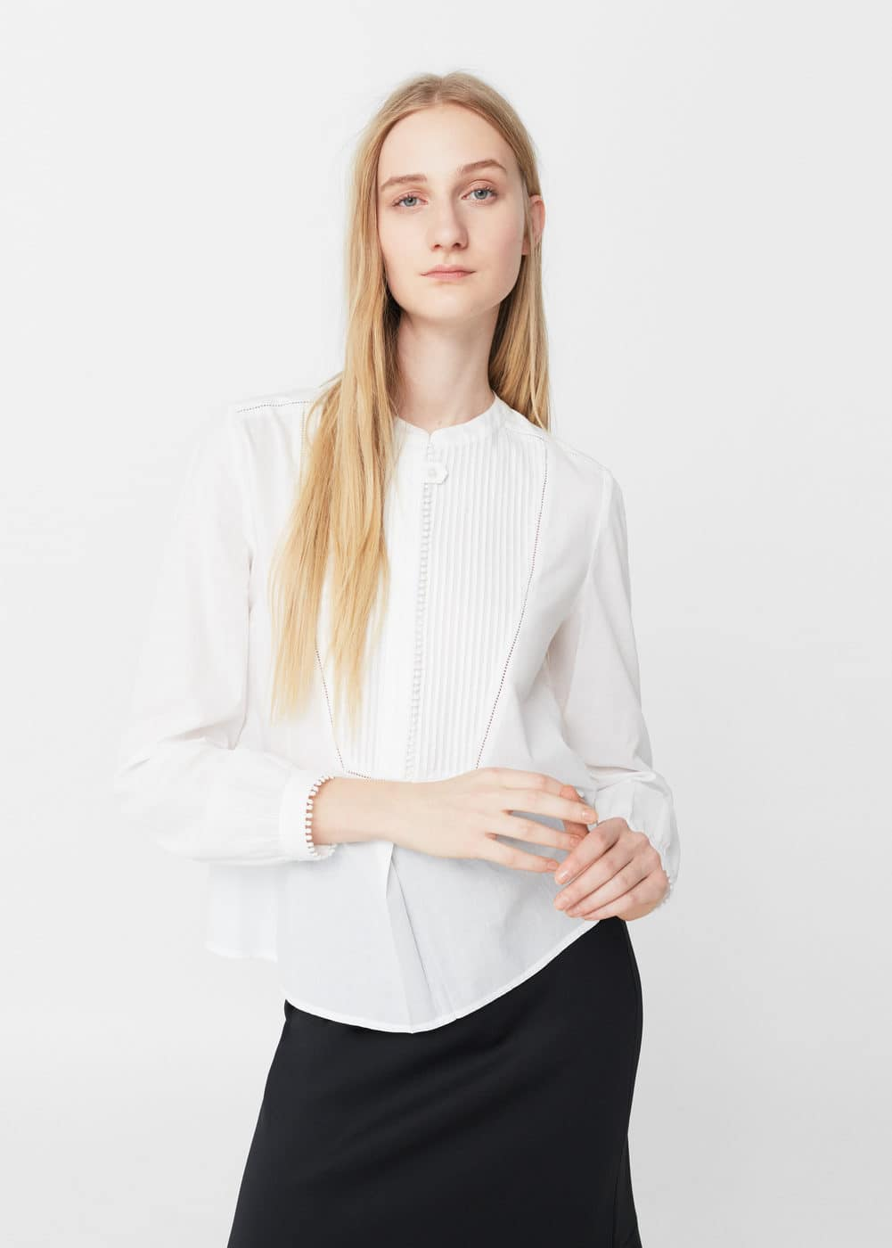 Panel cotton shirt | MANGO