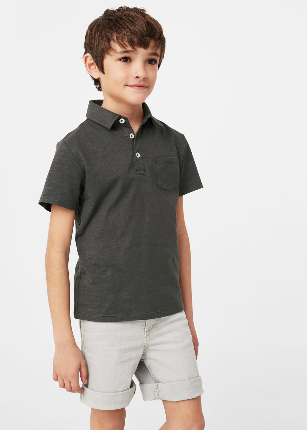 Cotton basic polo shirt | MANGO KIDS