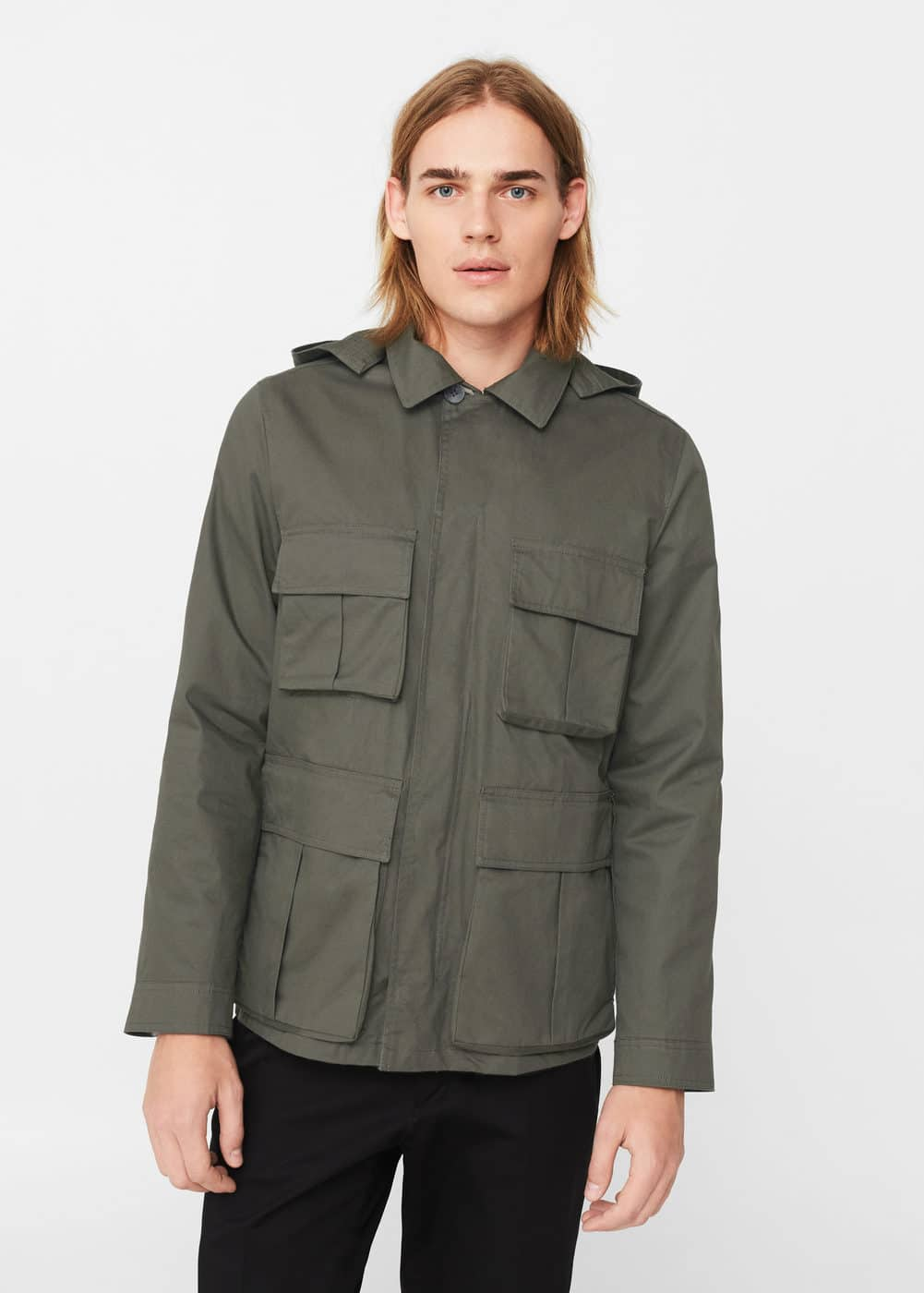 Cotton field jacket | MANGO