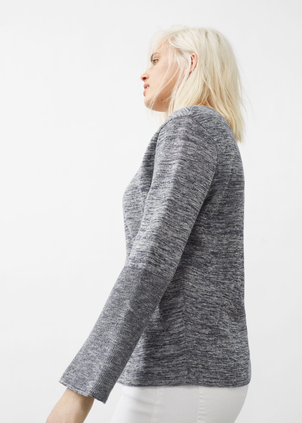 Flared sleeve cotton-blend jumper | MNG