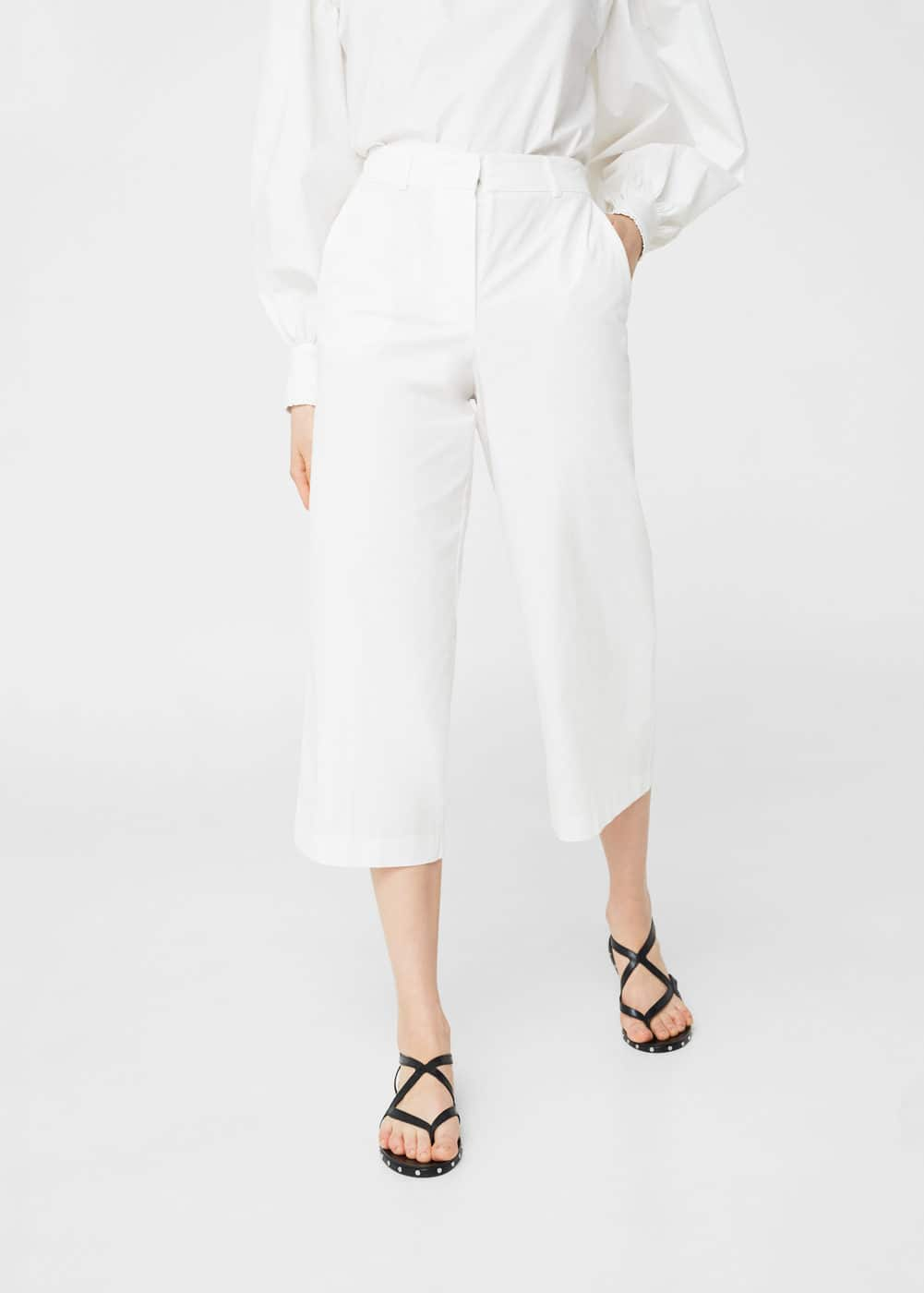 Cotton crop trousers | MNG