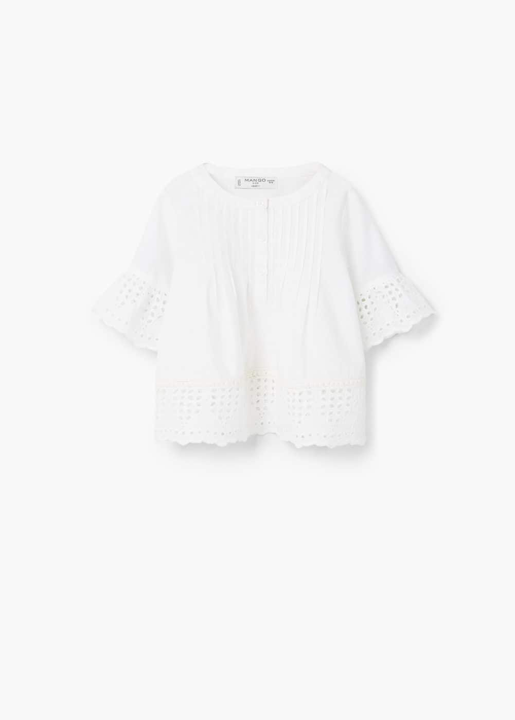 Openwork panel shirt | MANGO KIDS
