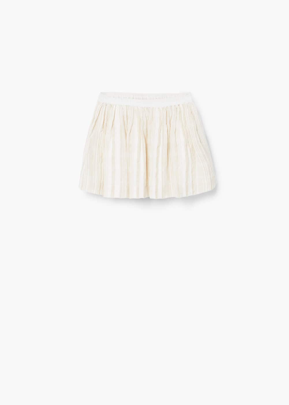 Textured cotton skirt | MANGO