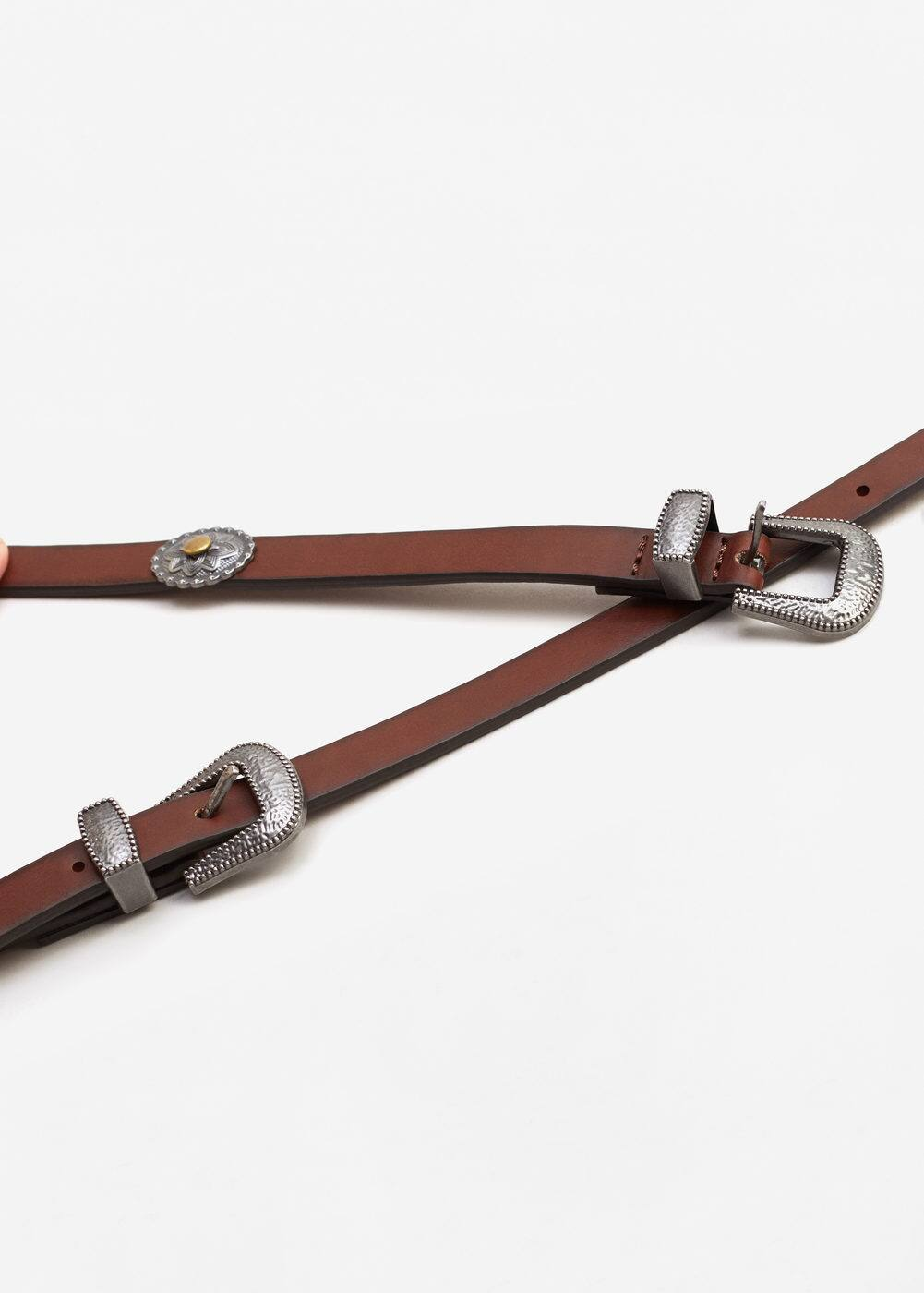 Double buckle belt | MANGO