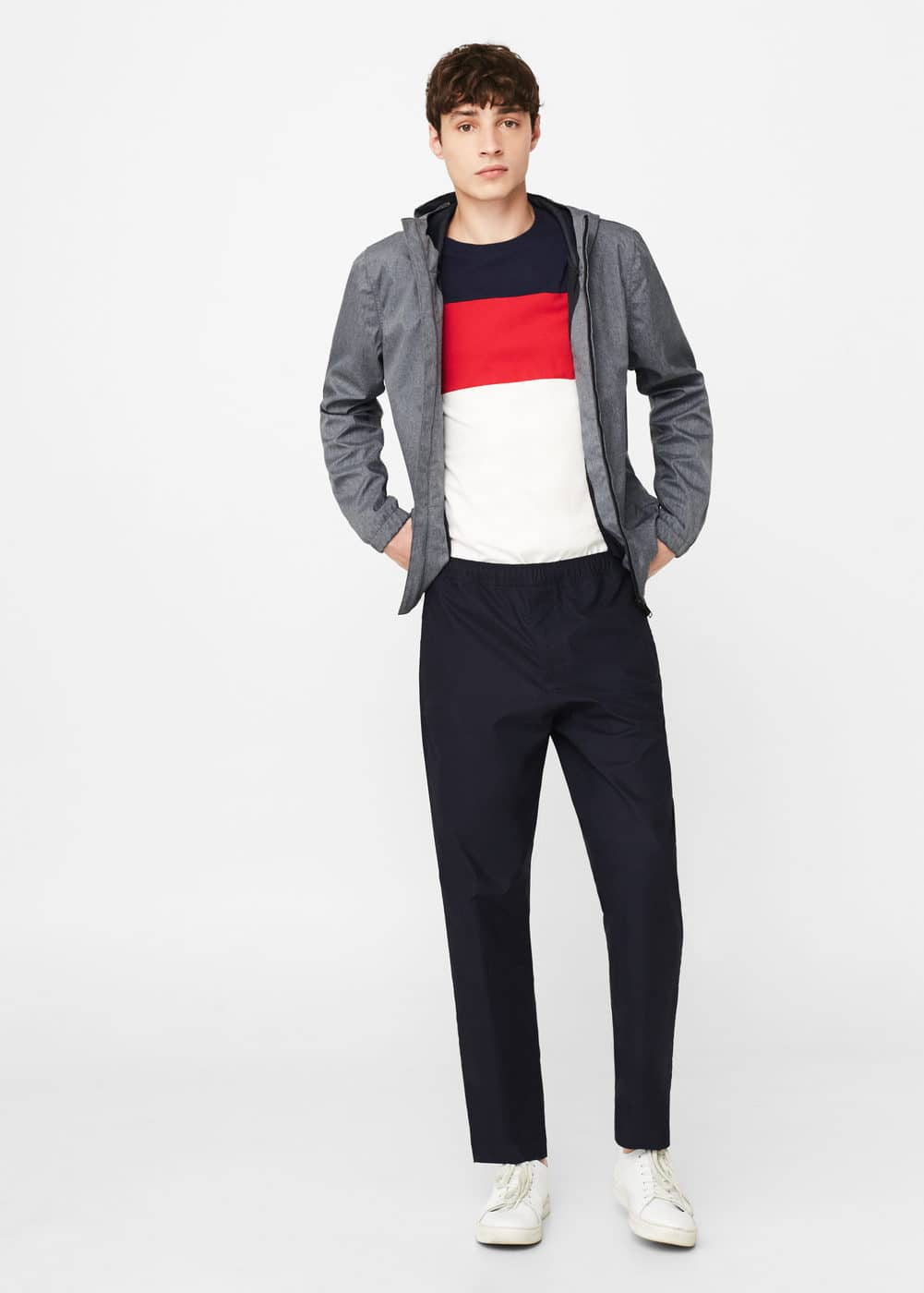 Technical fabric jacket | MANGO MAN