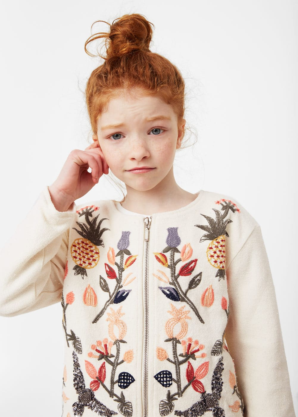 Sequin embroidered jacket | MANGO KIDS