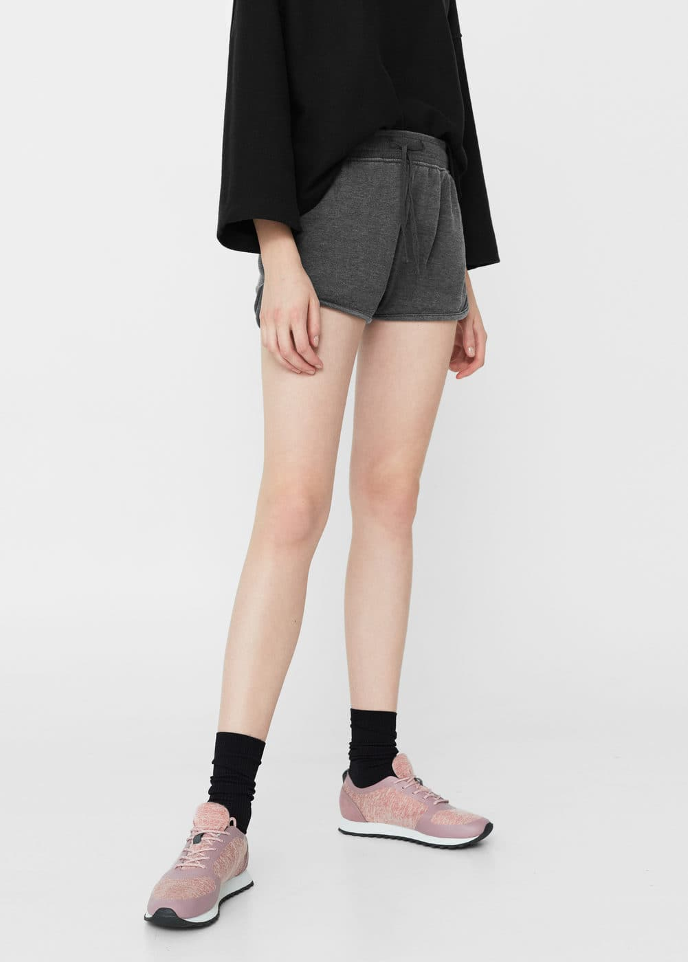 Cotton-blend shorts | MANGO