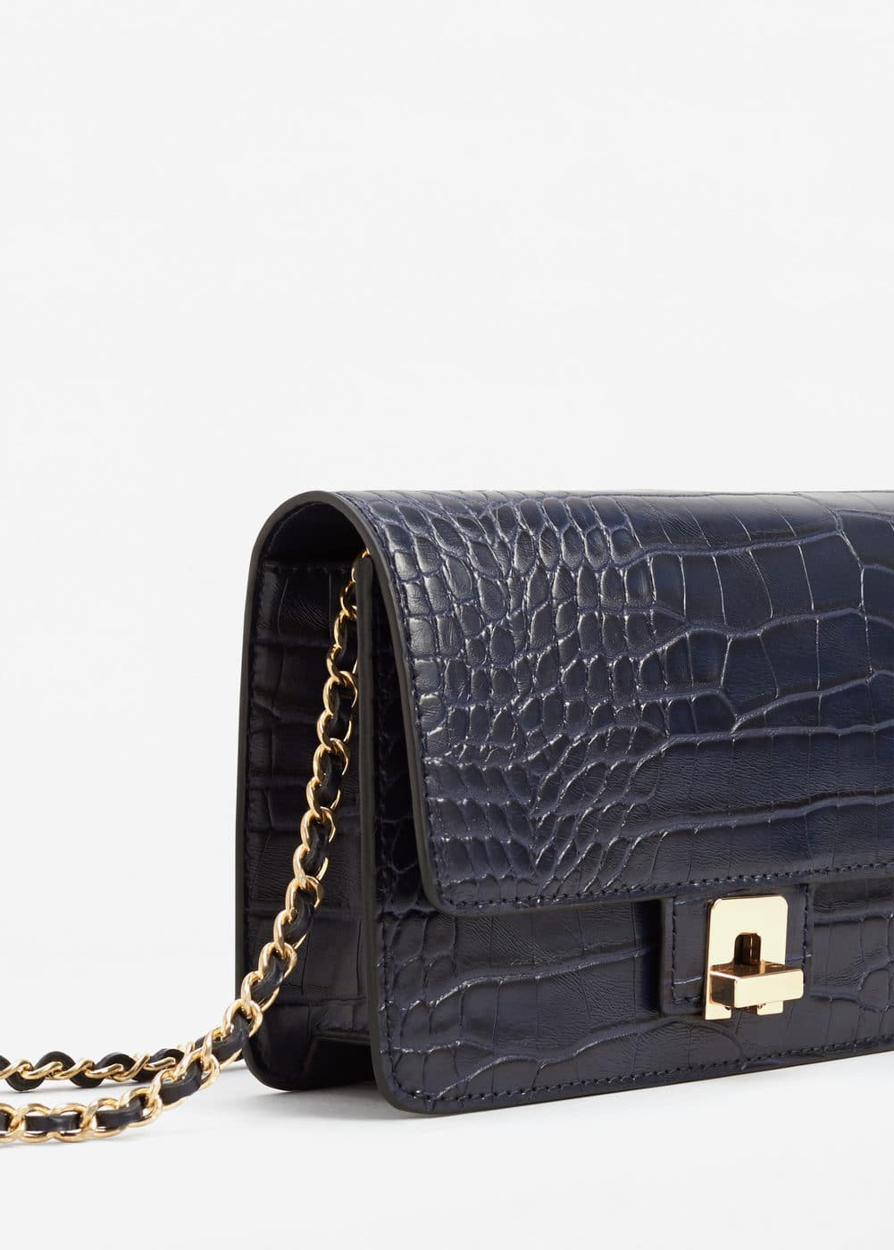Croc-effect bag | MANGO