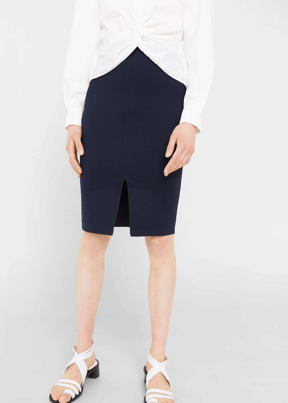 Vent pencil skirt | MANGO
