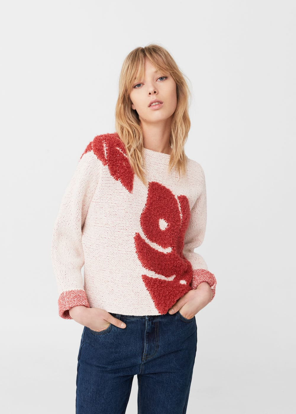 Textured cotton sweater | MANGO
