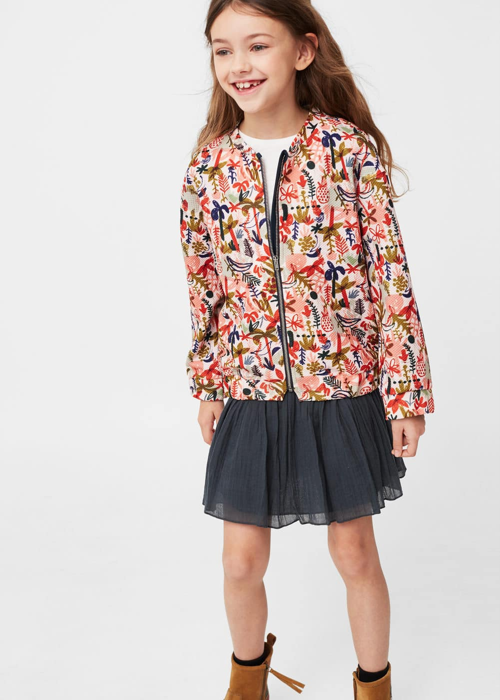 Tropical print bomber | MANGO KIDS