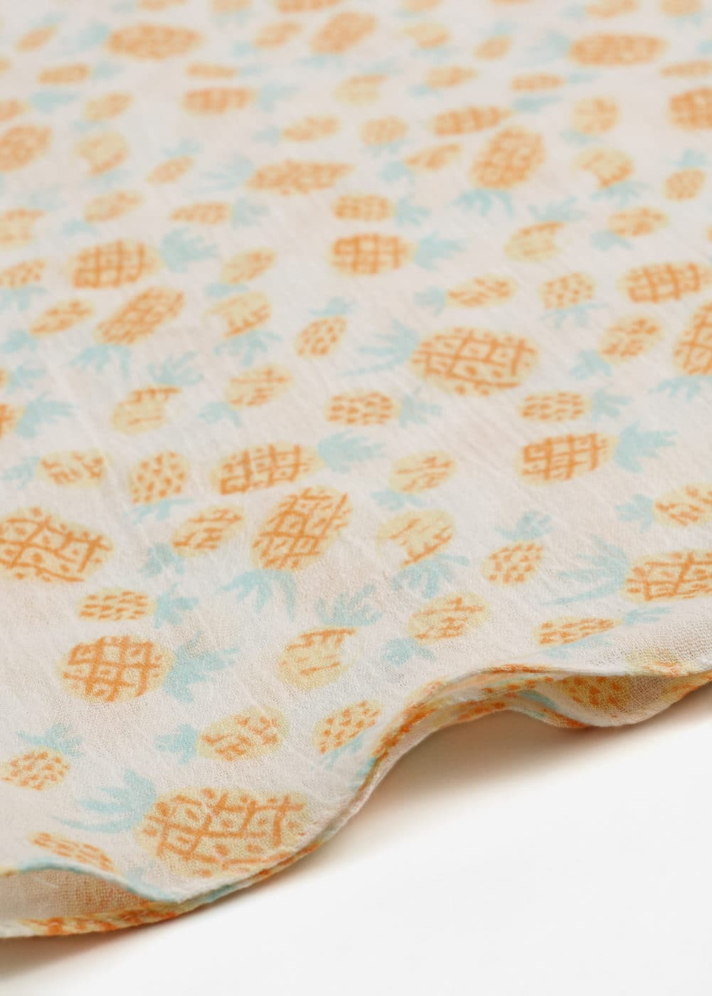 Printed cotton scarf | MANGO