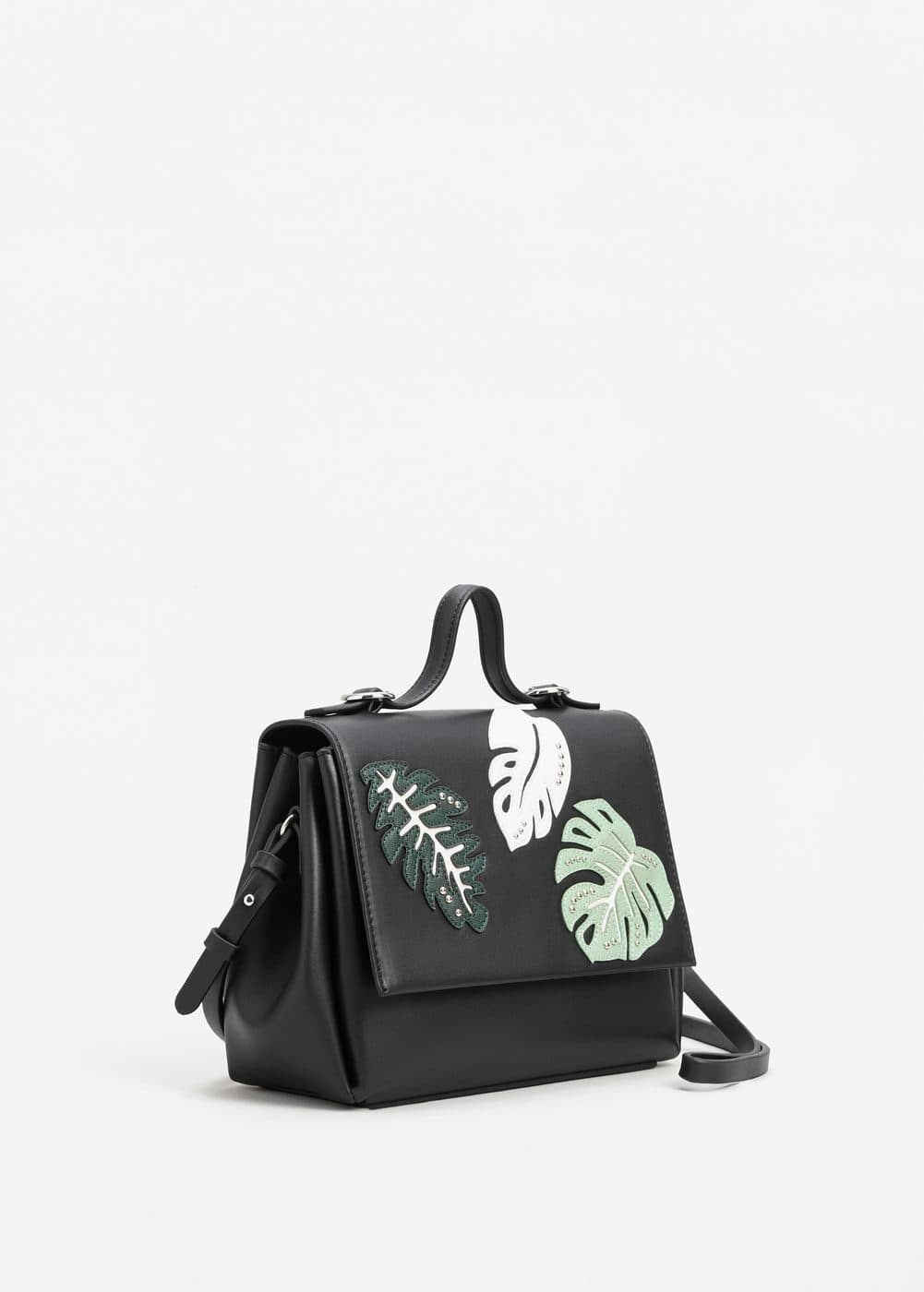 Leaves lapel bag | MANGO
