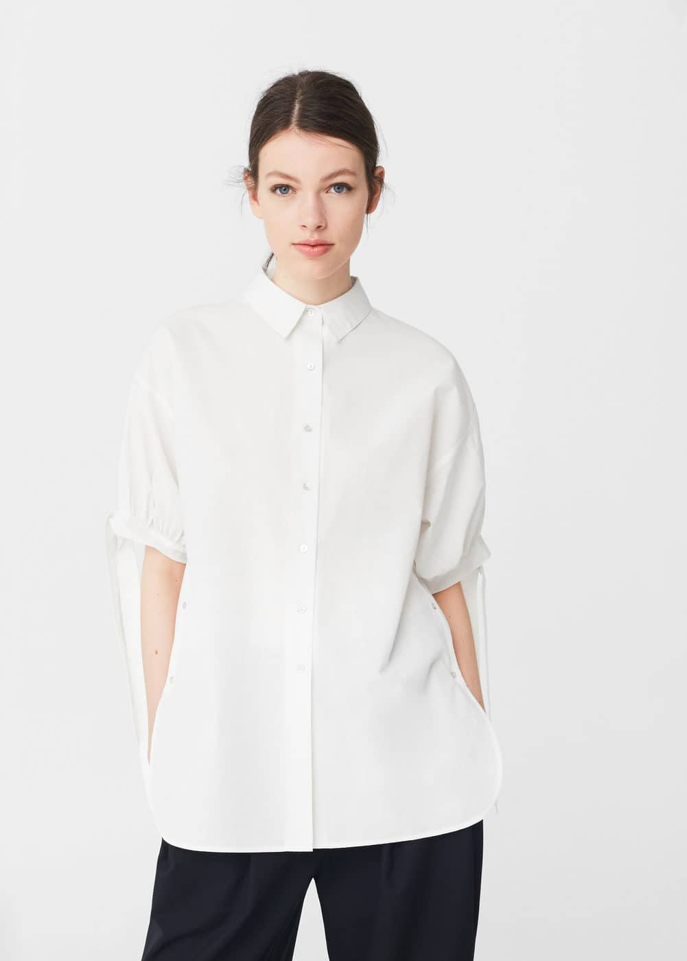 Bow cotton shirt | MANGO