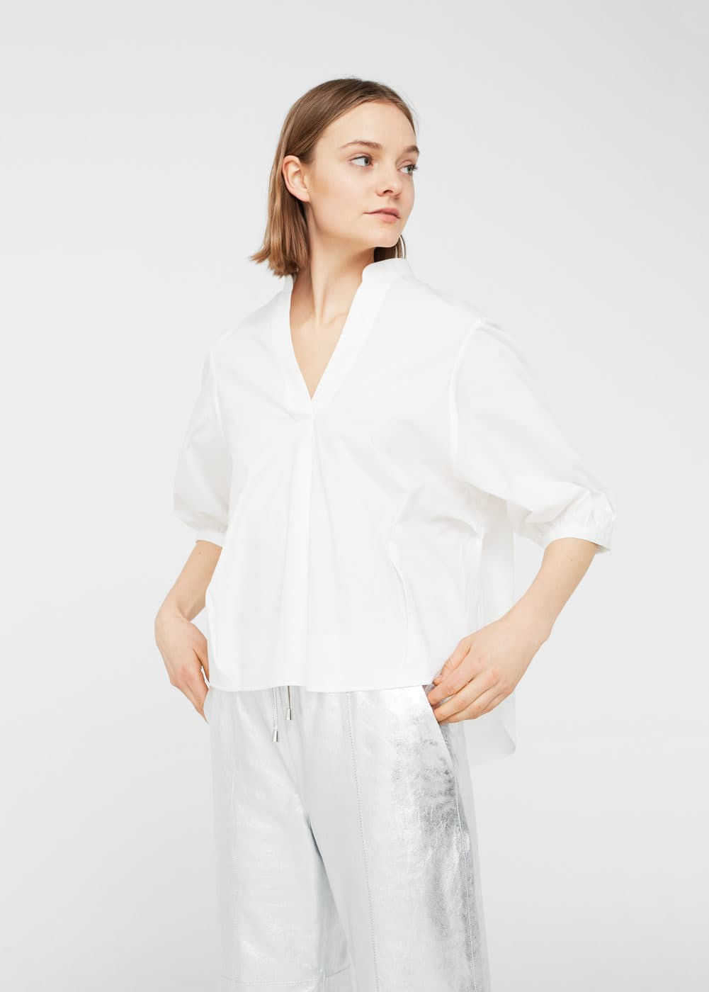 Puffed sleeves blouse | MNG