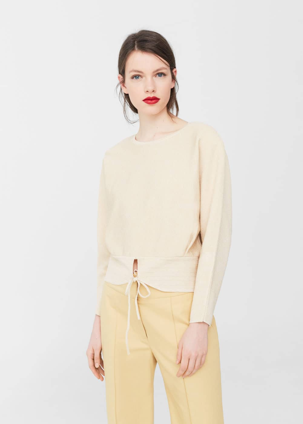 Front slit sweater | MANGO