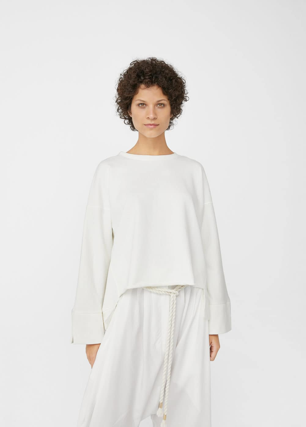 Oversize cotton sweatshirt | MANGO
