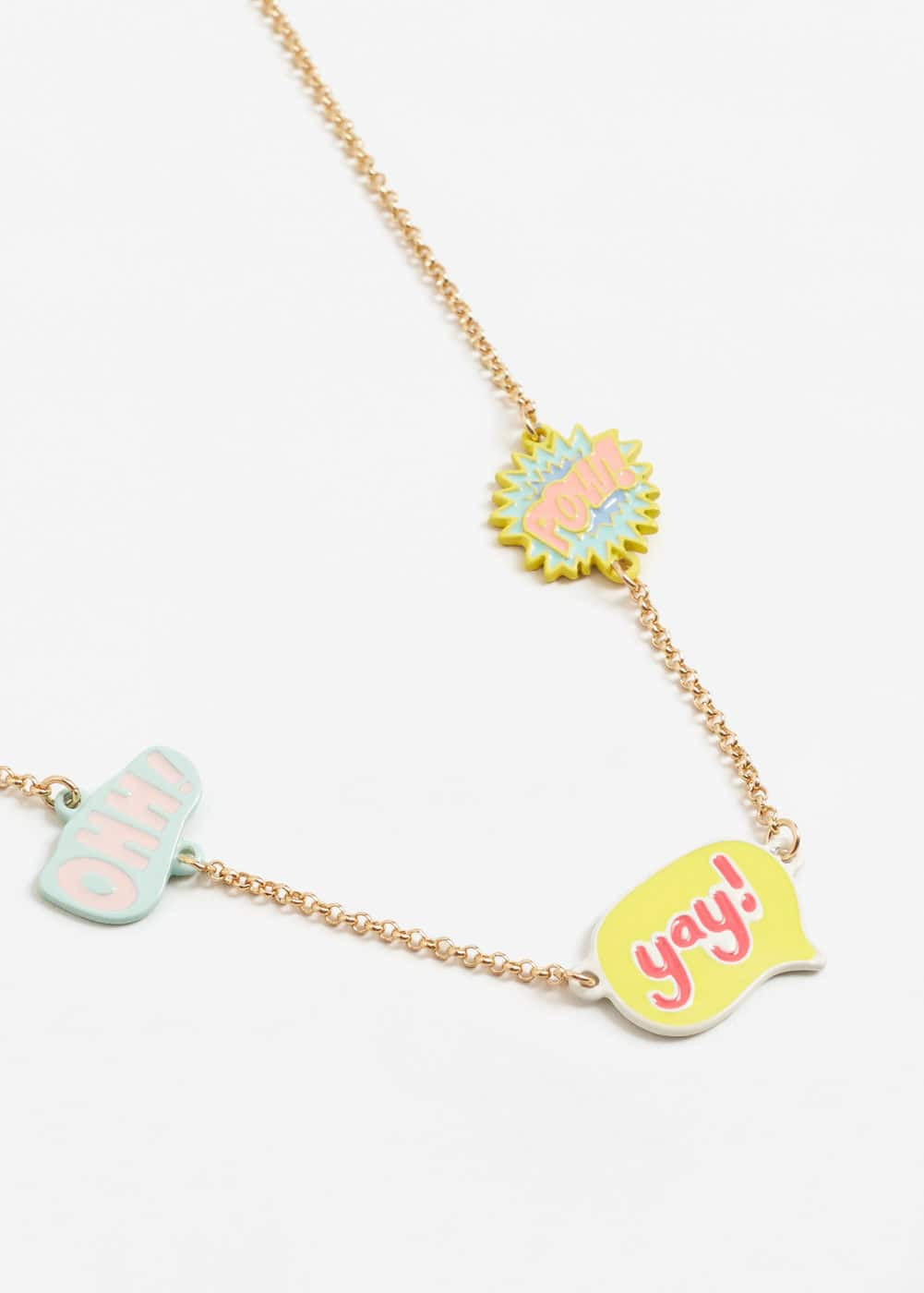 Metal piece necklace | MANGO KIDS