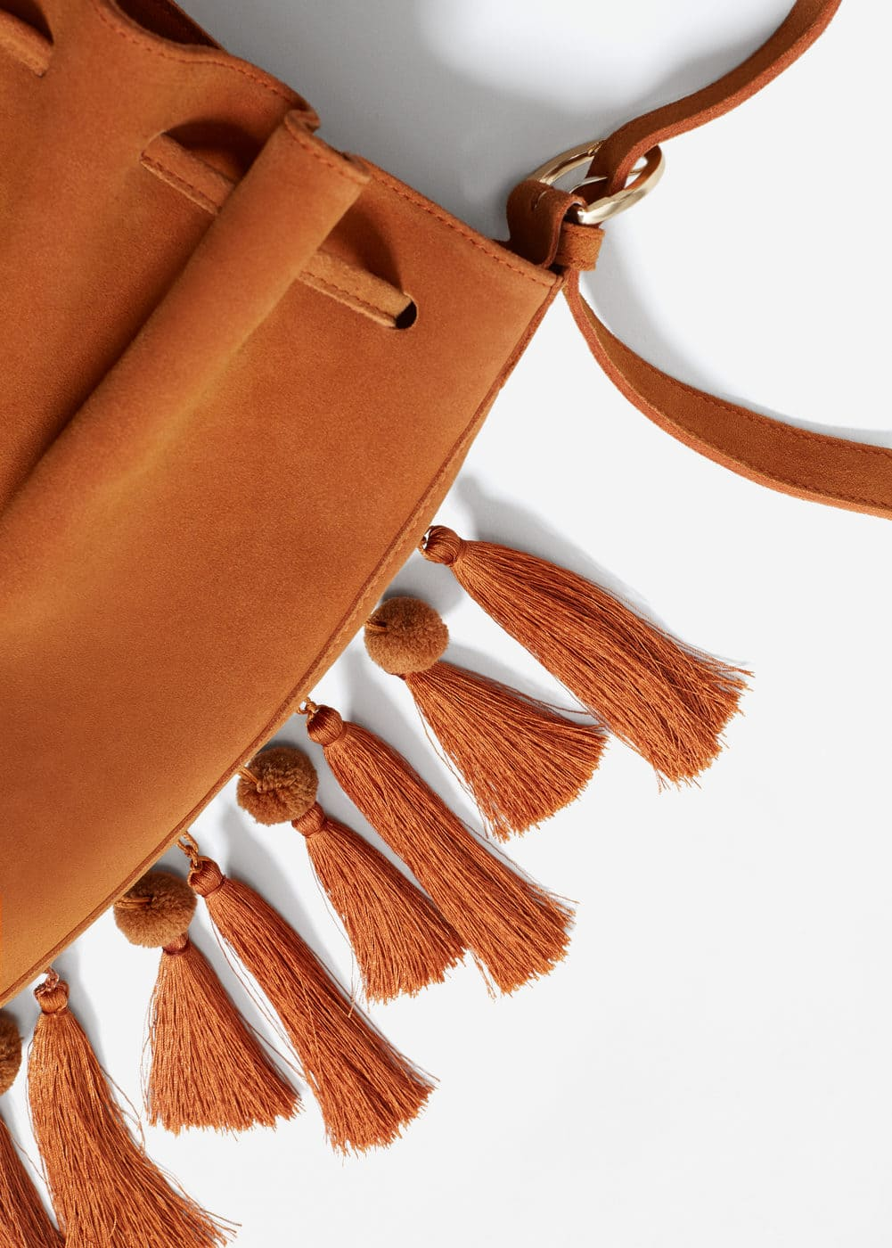 Tassels leather bag | MNG