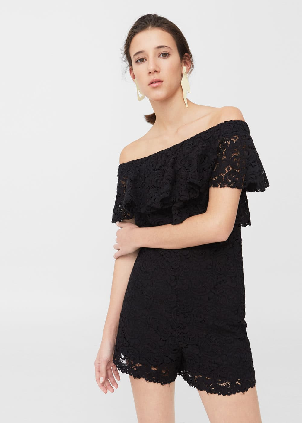 Lace short jumpsuit | MANGO