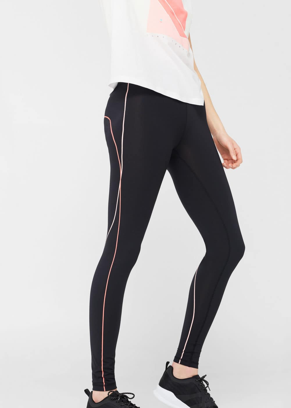 Leggings ribetes decorativos | MANGO