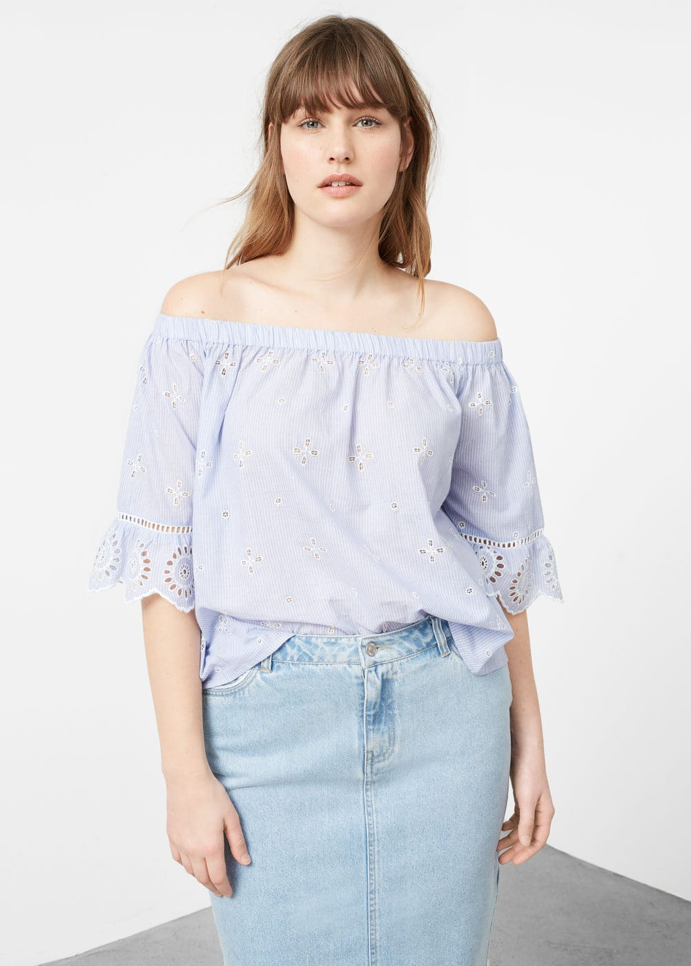Falda denim claro | VIOLETA BY MANGO