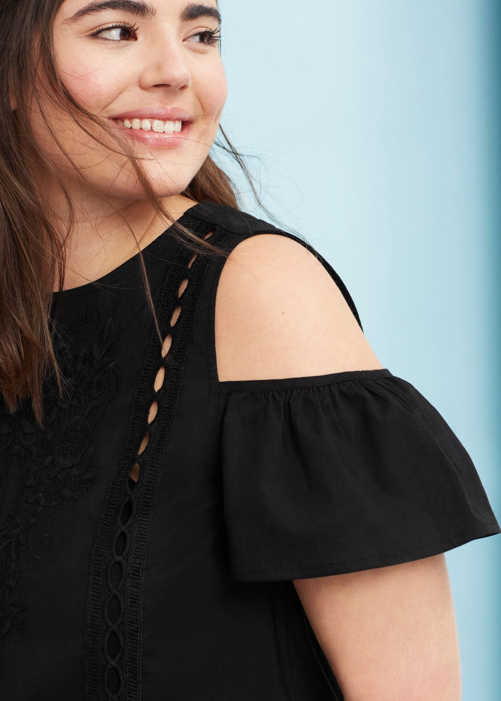 Off-shoulder top | VIOLETA BY MANGO