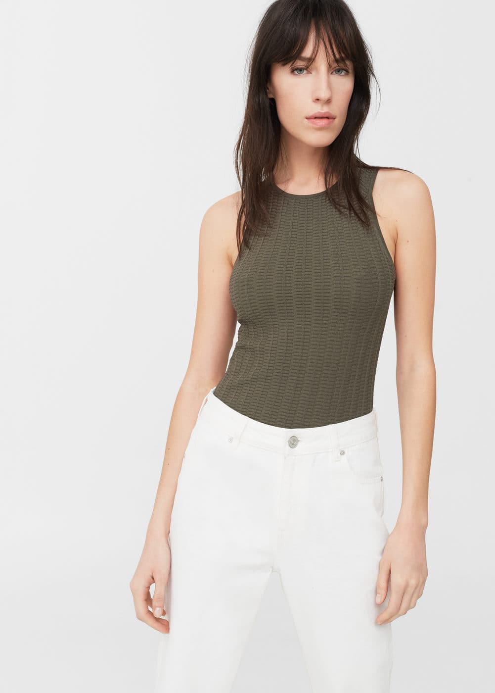 Textured top | MANGO