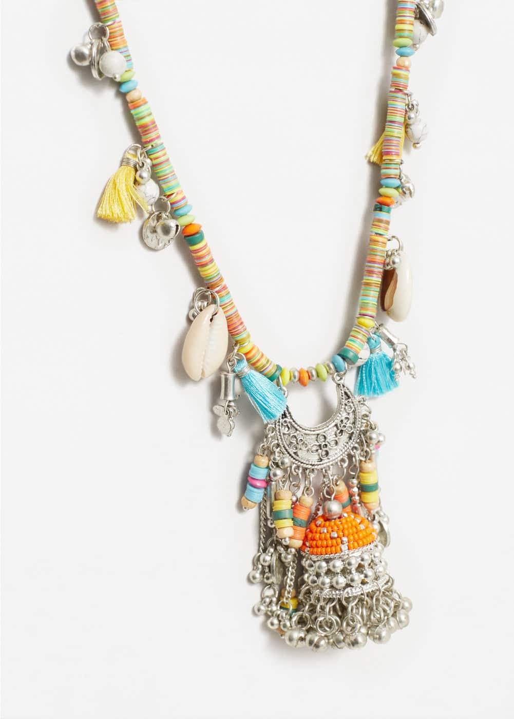 Ethnic pendant necklace | MANGO