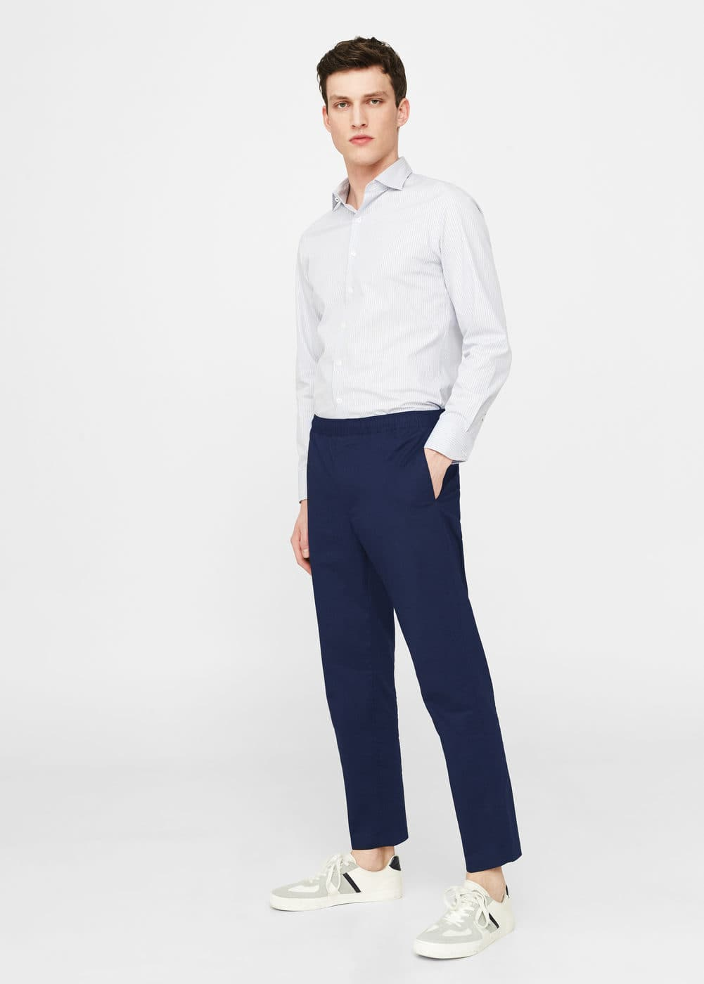 Cotton jogging trousers | MANGO MAN