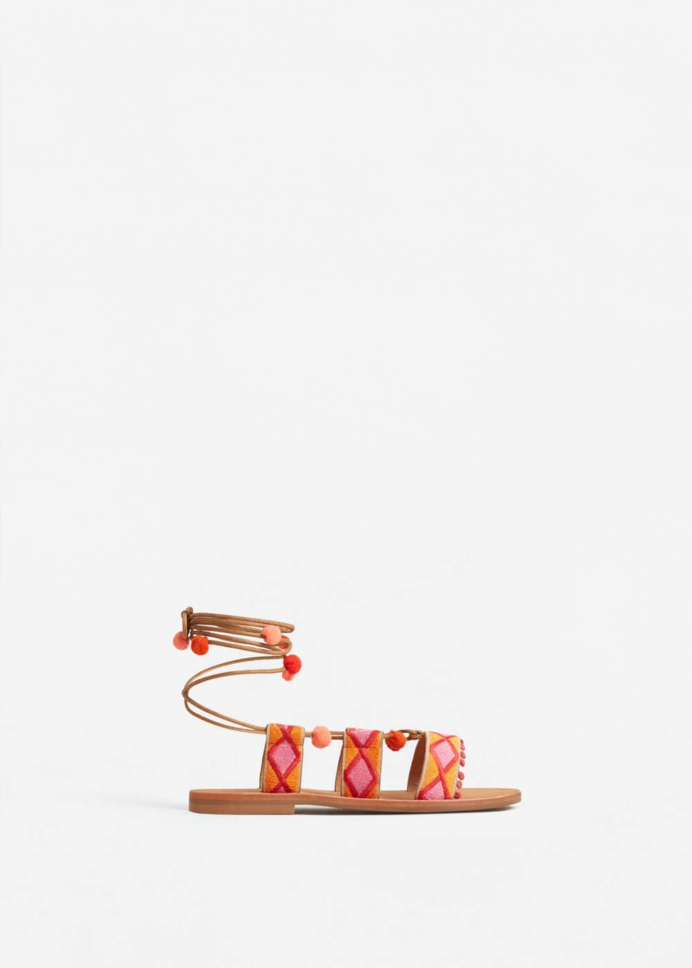 Decorative strap sandals | MANGO