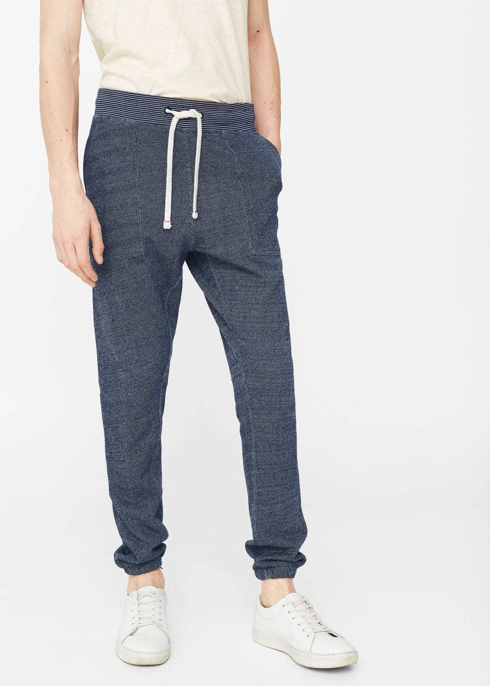 Flecked jogging trousers | MANGO MAN