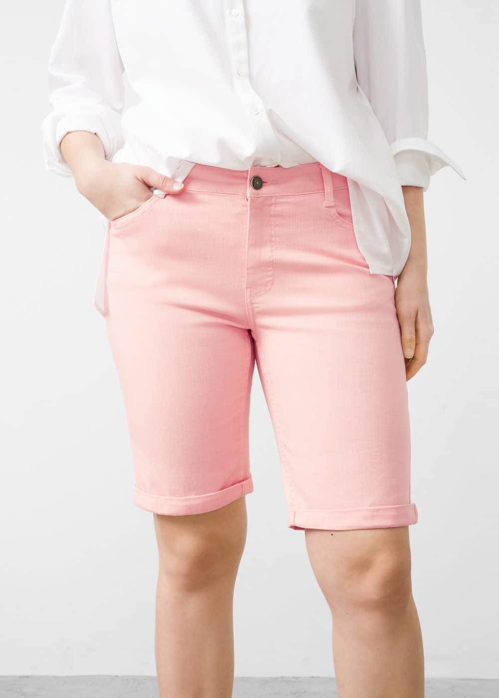 Cotton bermuda shorts | MANGO